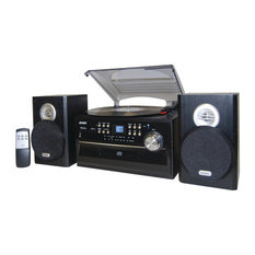 3-Speed Turntable With CD Player, AM/FM Stereo Radio, Cassette and Remote