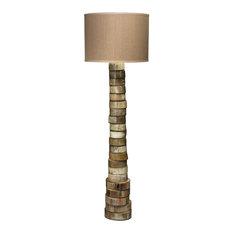 Jamie Young Stacked Horn Floor Lamp In Horn 1STAC-FLHO