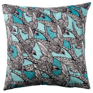 Paradise Velvet Cushion, The Swallows