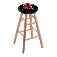 Oak Bar Stool Natural Finish With Miami Oh Seat 30-inch