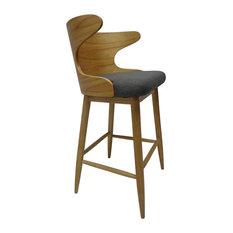 Truda Mid-Century Modern Upholstered Barstools Set Of 2