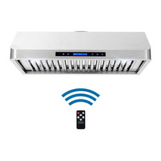 Cosmo 500 CFM Under Cabinet Range Hood Digital Touch With Permanent Filters, Sta