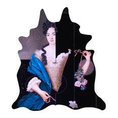 Portrait Faux Cowhide Rug, Annabelle, 150x165 cm