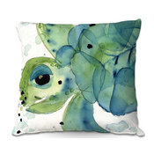 "Sea Turtle Throw Pillow, 16""x16"""