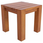 Zen Paradise - Malibu Teak Side Table - Solid teak, thick and chunky modern design, this side table will add natural, high quality design to any indoor or outdoor space.