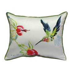Betsy Drake Betsy's Hummingbird Indoor-Outdoor Pillow