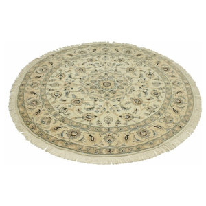 Nain 9La Persian Rug, Round Hand-Knotted Classic, 148x148 cm