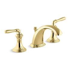 Kohler Devonshire Widespread Bathroom Faucets, Vibrant Polished Brass