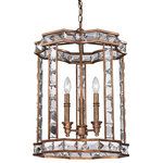 Elk Lighting - Elk Lighting 46066/3 Montclare Collection 3 light pendant in Mocha - The Montclare collection exemplifies European Renaissance design, with substantial crystal and a rich, angular design. The Mocha finished framework is lined with thick cut rectangular crystals, defining each item with dazzling vivacity.