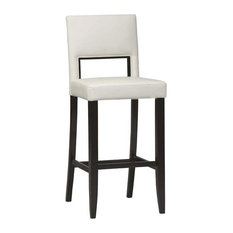 Linon Home Decor Products - 30 in. Faux Leather Bar Stool w Vinyl Seat - Bar Stools and Counter Stools