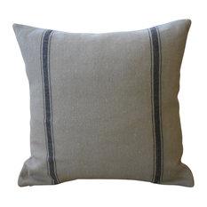 "French Grain Sack Pillow, 17""x17"""