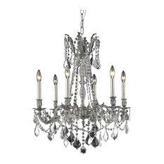 Royal Cut Clear Crystal Rosalia 6-Light