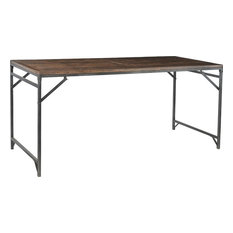 Folding Table DOVETAIL Vintage Waxed Stained