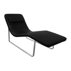 lemoderno fine mod imports longa chaise black indoor chaise lounge chairs chaise lounge sofa modern