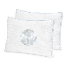 SensorPEDIC Greek Key Signature Pillow, Jumbo, Set of 2