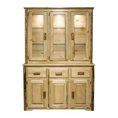 Raw   Stillwater Sideboard And Hutch, Honey   China Cabinets And Hutches