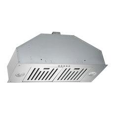 KOBE INX2730SQB-700-2 300 - 750 CFM 30 Inch Wide Insert Range Hood with QuietMo