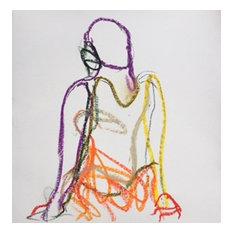"""Orange Skirt 1"" Painting by Lynne Pell"