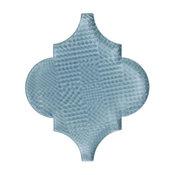"5"" Arabesque Moroccan Arabesque Textured Mosaic Tile, Foggy Meadow, Set of 36"