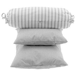Alexa 3-Piece Pillow Set, Grey