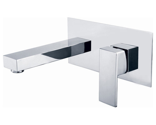 Dree Contemporary Single Handle Wall Mount Faucet   Bathroom Sink Faucets