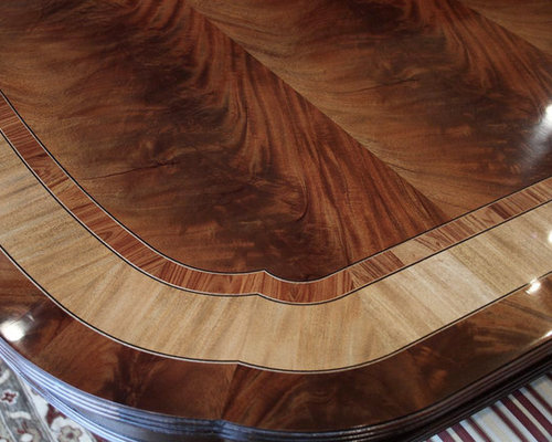 Extra Large and Long Mahogany Dining Room Table with 3 Leaves (LH 5)