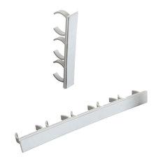 Spice Rack Organizer- Cabinet Gripper Clip Strips for Pantry Organization