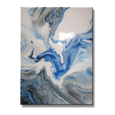 Modern Abstract Resin Coated Limited Edition Giclee 48x36 by Eloisexxx