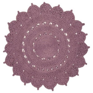 Zira 007 Jute Rug, Heather, 150 cm Round