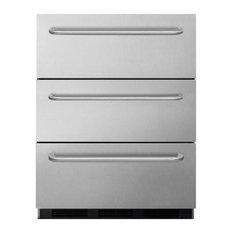 Commercial 3-Drawer, All-Refrigerator Built-In Use SP6DSSTBOS7