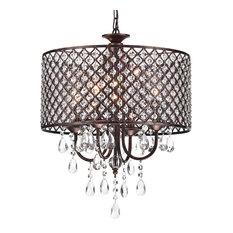 Rectangular drum shade chandeliers houzz 1st avenue mariella 4 light crystal drum shade chandelier antique copper chandeliers mozeypictures Choice Image