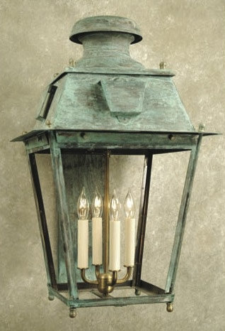 Green Outside Wall Lights : Copper Wall Lanterns