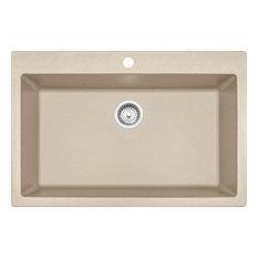 "33""x22""x9"" Franke Undermount Granite Kitchen Sink, Champagne, DIG61091-CHA"