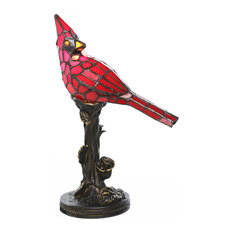 River of Goods - 11841 Tiffany Style Cardinal Accent Lamp - Table Lamps