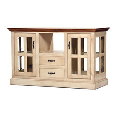 West Wind Kitchen Island With Wood Plank Top, Hazy Sunrise, Concord Cherry