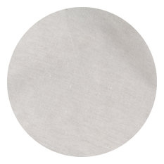 """Natural Undyed Linen Tablecloth, 108"""" Round"""