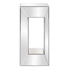 "Howard Elliott Mirrored Pedestal With Offset Opening, 12""x12""x25"""