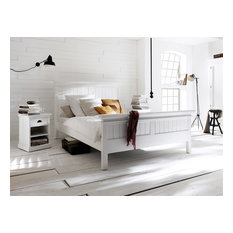 Bonsoni White Angel Queen Size Bed