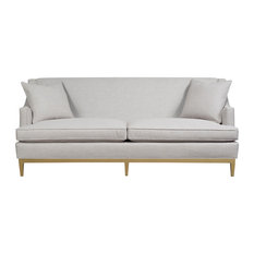 Duralee Furniture - Cardiff Tight Back Sofa, Putty - Sofas