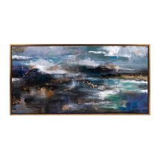 "Trisha Yearwood Cowboy Framed Oil Painting, 61.75""x31.5"""