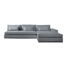 Vig Furniture Inc.   Special Order C08 Grey Microfiber Fabric Sectional Sofa    Sectional Sofas