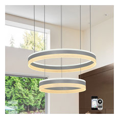 "Europa 24"" 2-Tier WiFi-Enabled Tunable White Color-Changing LED Chandelier"