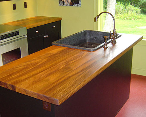 Teak Wood Counter With Sink   Kitchen Countertops