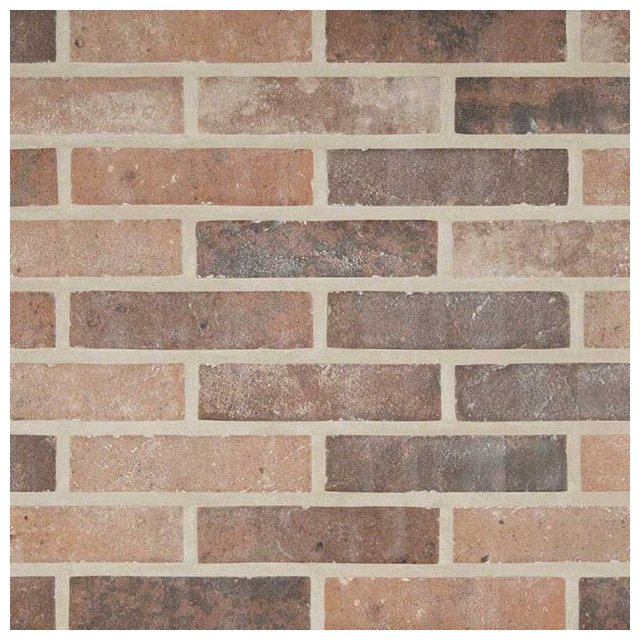 Capella Red Brick 2 Quot X10 Quot Traditional Wall And Floor