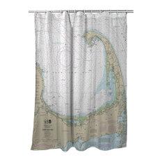 Cape Cod, MA Nautical Chart Shower Curtain