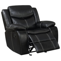 Ellie Transitional Bonded Leather Recliner Chair, Brown
