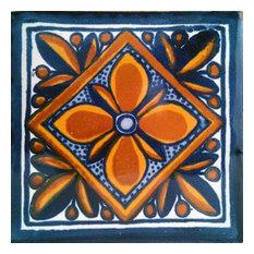 "4""x4"" Mexican Ceramic Handmade Tile #C001"