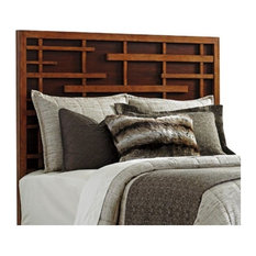 Tommy Bahama Island Fusion Shanghai California King Panel Headboard in Walnut
