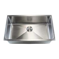 """Stainless Steel Undermount Single Bowl Kitchen Sink, 16 Gauge, 32"""""""