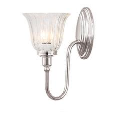 Blake Bathroom Wall Lantern, Polished Nickel